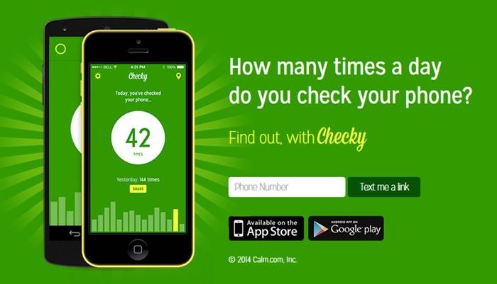 Checky una de las apps para controlar el uso del móvil