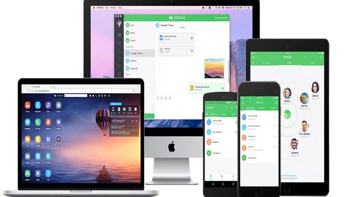 app AirDroid para ver la pantalla del móvil en la PC