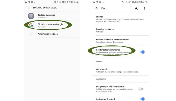 activar el dictado por voz en Whatsapp Android