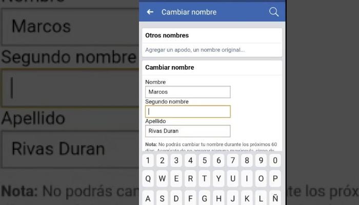 cambiar tu nombre de facebook