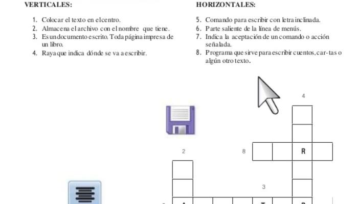 hacer un crucigrama en word