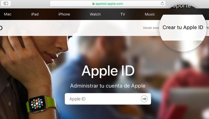 crea una cuenta de ID Apple