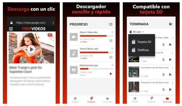 Descargador de vídeos gratis-1