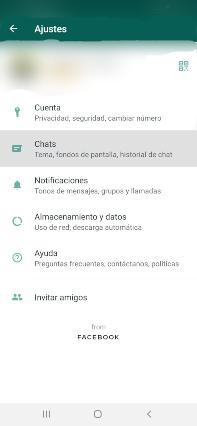 como activar el modo oscuro whatsapp en android ir a chats whatsapp