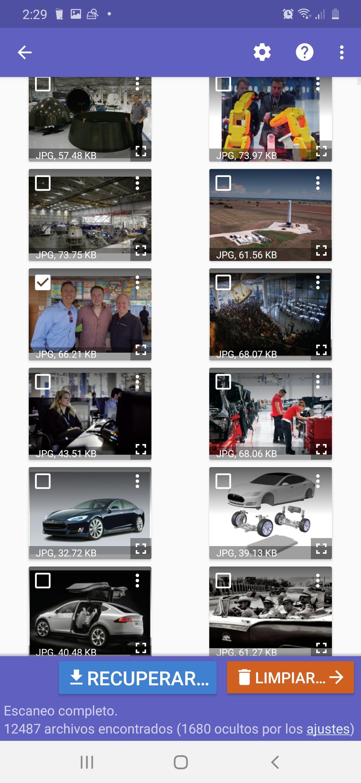 cómo recuperar fotos borradas en Android Diskdigger seleccionar foto a recuperar