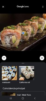 Aparecerá un resultado de búsqueda con más imágenes con contenido similar