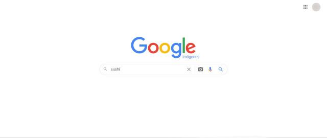En la barra de búsqueda escribe el tipo de imagen que buscas