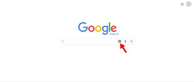 Haz clic en Búsqueda por imágenes ilustrado por el icono de una cámara fotográfica
