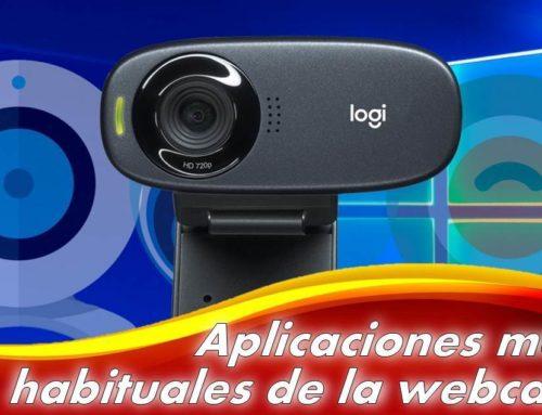 ¿Cuáles son las aplicaciones más habituales de la webcam?
