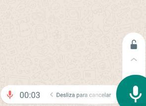 Enviar notas de voz en Whatsapp