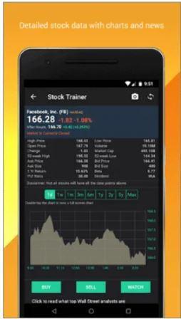 Aprende y practica sobre las acciones Trading Virtual (Stock Trainer)